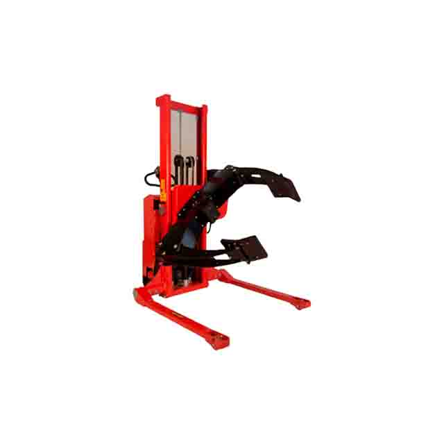 Wide-track roller rotator with tilted clamps