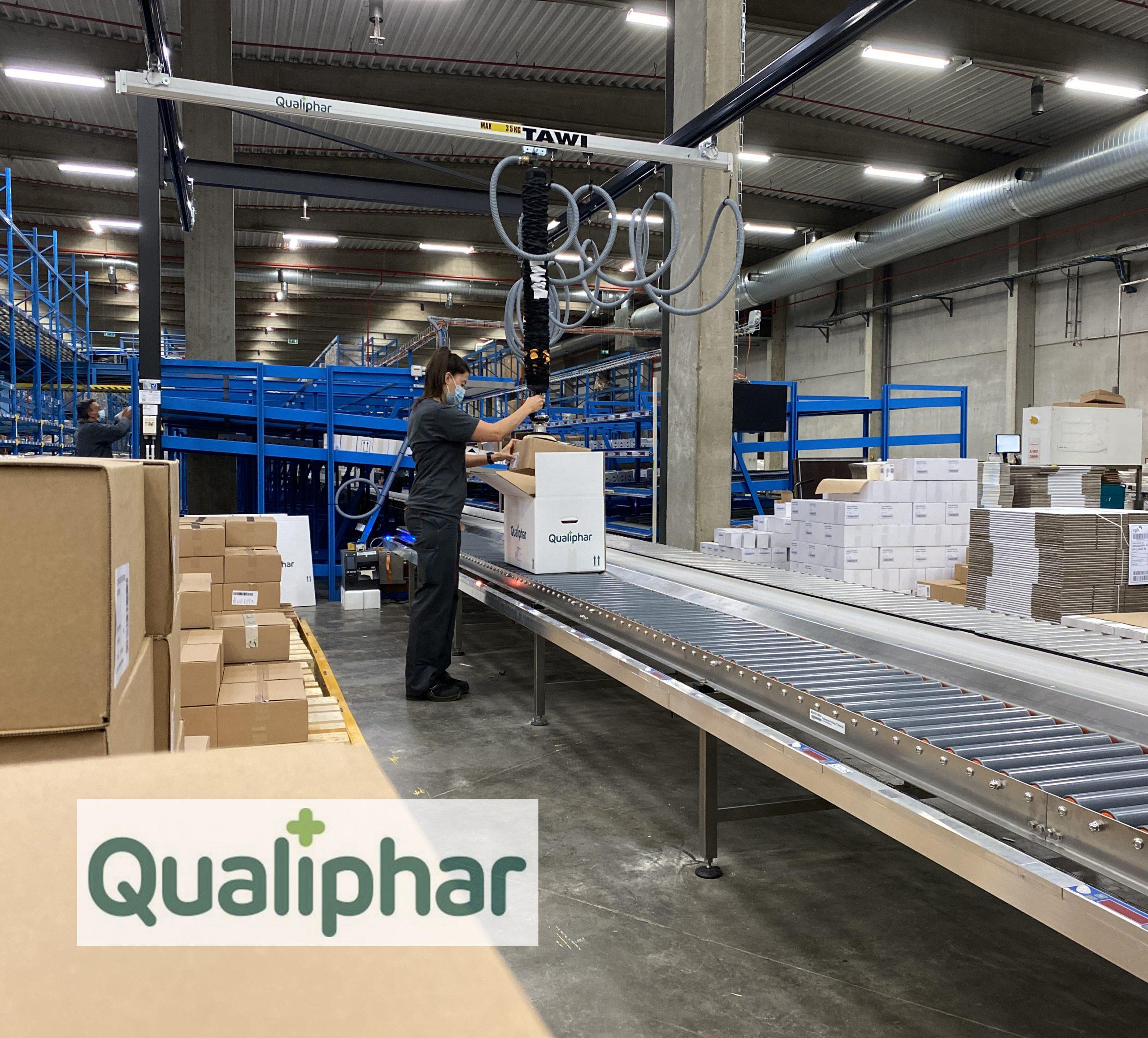 Cover afbeelding voor de case Qualiphar met logo